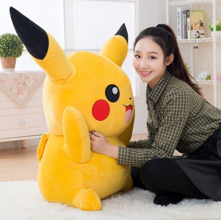39In. Large Pokemon Anime Pikachu Soft Stuffed Plush Toy Gift Doll Kids Xmas