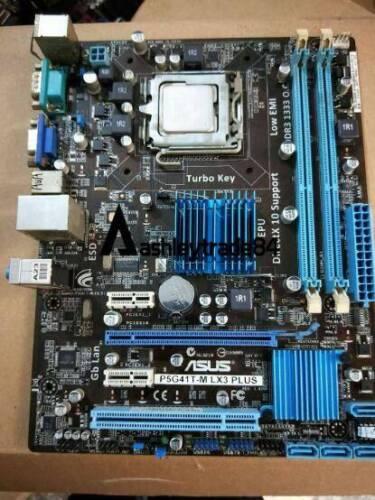 Asus P5G41T-M LX3 Plus Desktop Motherboard G41 Socket LGA 775  Tested