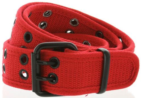 1805 Double Hole Grommets Soft Fashion 7 Color Canvas Web Belts 38mm New