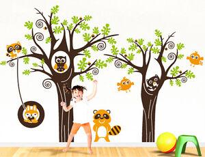 00290 Wall Stickers Adesivi murali bambini Bosco allegro 223x150cm ...