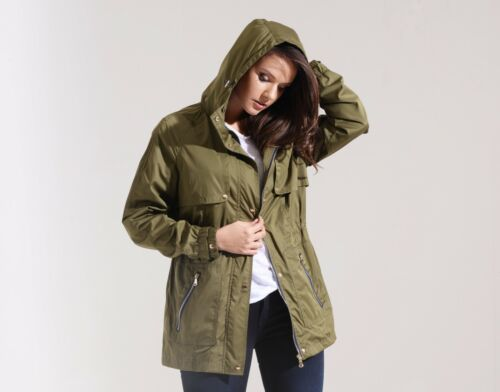 Charcoal Fashion Women/'s Khaki Water Resistant Festival Rain Mac// Rain Coat