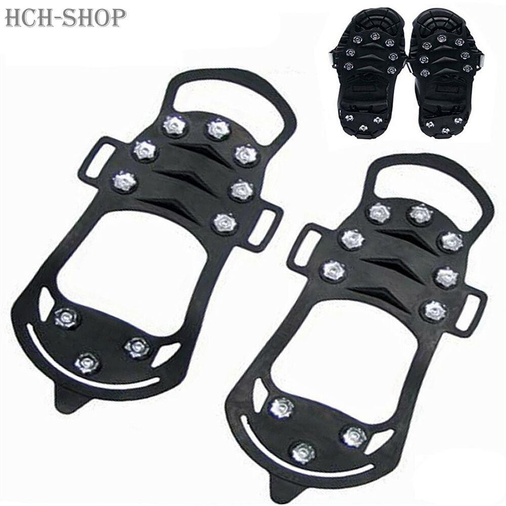 Antirutsch Schuhe Spikes Schuhketten DOPPELTER Gleitschutz 35-40