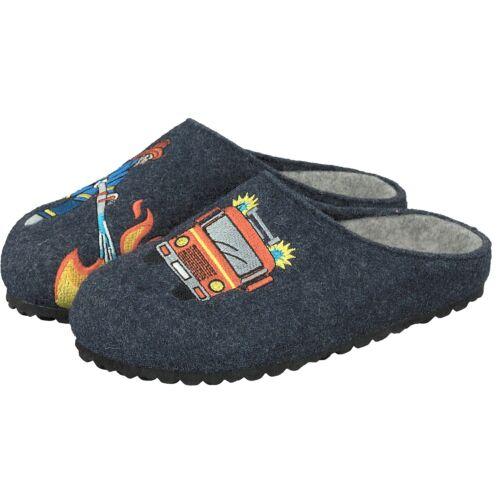 Supersoft Jungen Schuhe 542-180 Pantoffeln Hausschuhe Feuerwehr 834 Navy NEU