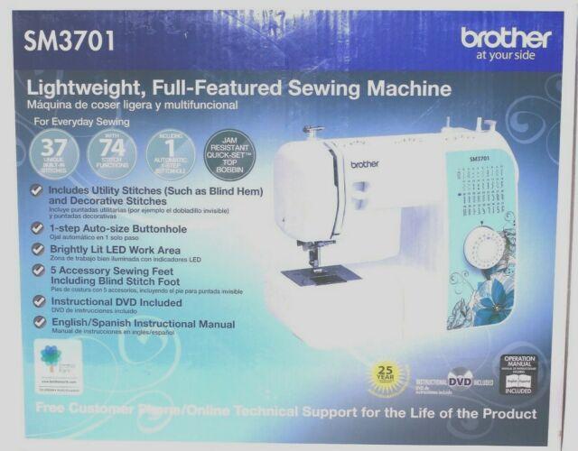 Brother Sm3701 37 Stitch Sewing Quilting Machine