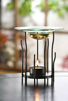 Modern Twig Stick Glass Metal Wax Tart Warmer Oil Diffuser Candle Holder Burner