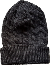 item 3 Mens Ladies Unisex Winter Warm Hat Cable Knit Turn Up Beanie Hat One  Size -Mens Ladies Unisex Winter Warm Hat Cable Knit Turn Up Beanie Hat One  Size 3f2b7be558be