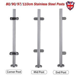 Stainless-Steel-Balustrade-Posts-Mid-Corner-End-Grade-304-Glass-W-Clamps-Base