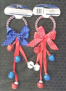 ede1f631d Red White  Blue Door Knob Hanger With Bells July 4th ~Military ...