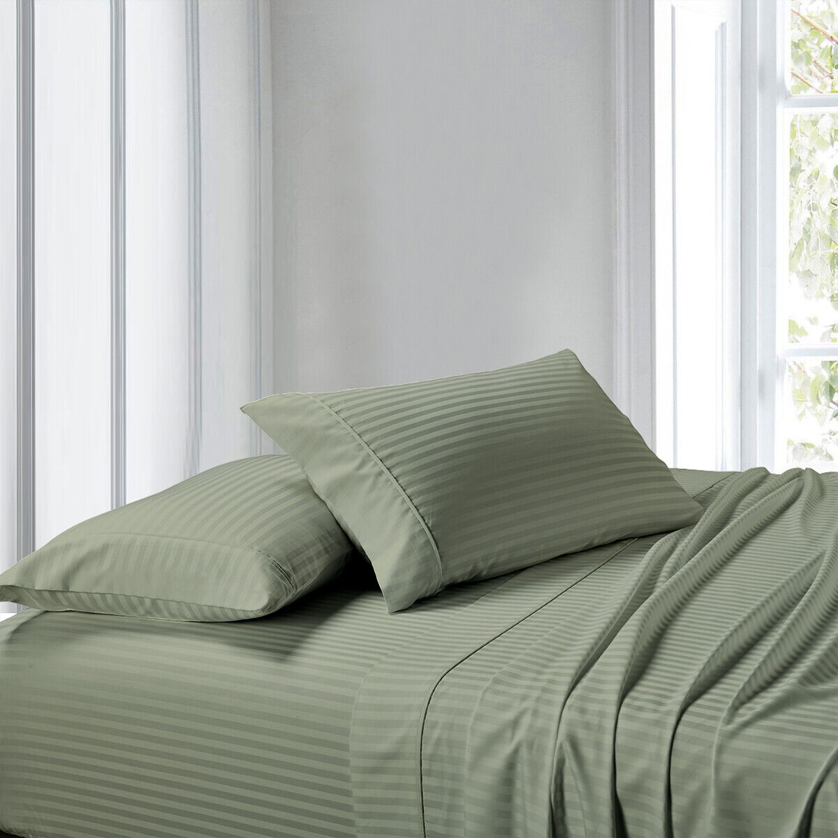 "Extra 2 Types Ivory Sheets Bedding Patterns 1000TC Pure Cotton----10-30/"" Pockets"