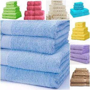 100/% Cotton Towel Sets Bath Sheet Hand Large Bale 500 GSM Bathroom /& 6 Piece Set