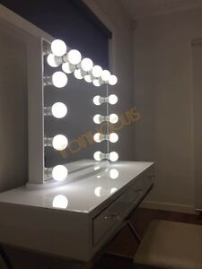 Image Is Loading L Frameless White Hollywood Vanity Beauty Makeup Mirror
