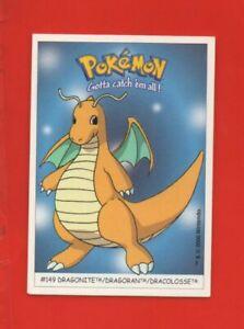 Pokémon Gotta catch'em all n° 149 - DRAGONITE - DRAGORAN - DRACOLOSSE  (A8512)