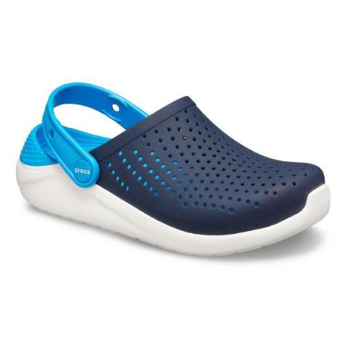 Crocs LiteRide Clog Unisex Kinder Sandale Roomy Fit 205964 Blau