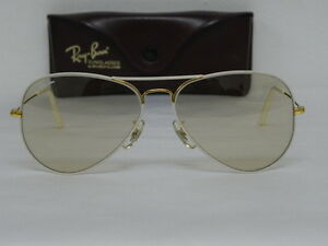 3cc558afa0e New Vintage B L Ray Ban Large Metal Flying Colors White Changeable ...