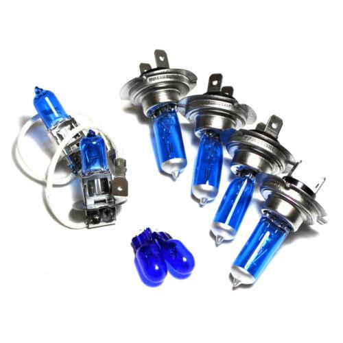 Vauxhall Corsa MK2//C 55 W Bleu Glace Xenon HID Haut//Bas//Brouillard//Côté Ampoules Phare