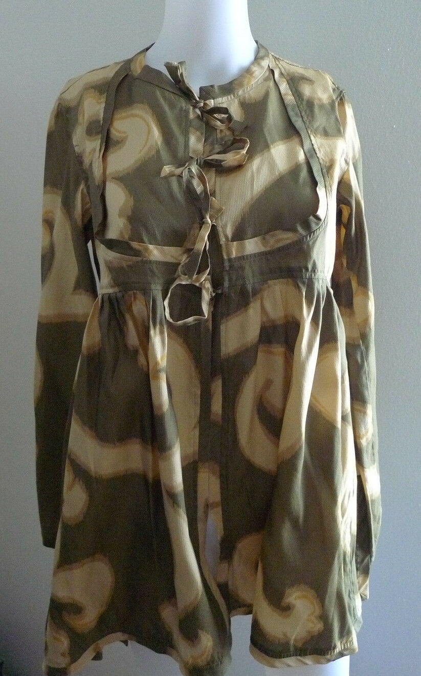 DRIES VAN NOTEN SIZE 38 100% SILK BLOUSE TUNIC TO… - image 5