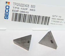 Tpg 432 F 883 Seco 10 Inserts Factory Pack