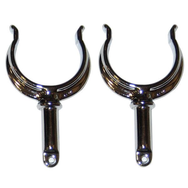 Perko 1262DP0ZNC Ribbed Type Rowlock Horn Zinc Natural Finish 2CT 3640