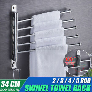 Swivel-Towel-Holder-5-Arm-Swing-Bar-Wall-Mount-Rack-Towel-Hanger-For-Bathroom