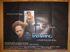 BAD TIMING (1980) - original UK quad film/movie poster, crime, Harvey Keitel