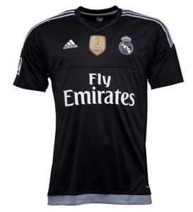 Real Madrid 15//16//17//18 Shirt Top Black White Away Third Home Medium Large XS