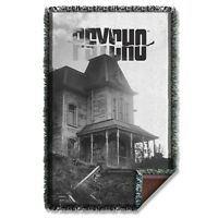 Psycho Horror Movie House Licensed Woven Throw Blanket 36 X 60 on sale