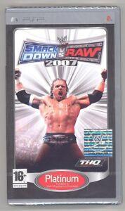 WWE-SmackDown-vs-Raw-2007-Sony-PSP-New-Sealed-EUR-Import-Platinum-Best-Wrestling