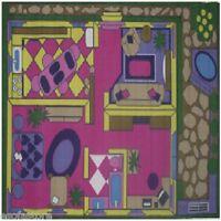 Rugs Area Rugs 100% Nylon Carpet 51x78 Dollhouse Flooring Multicolor Rug Room