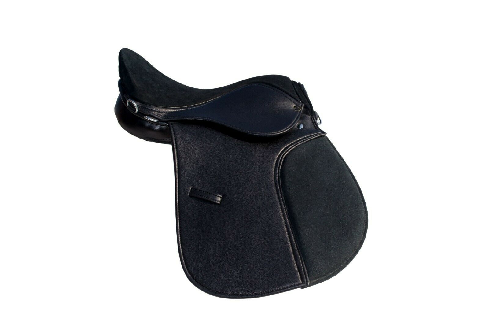 General purpose synthetic halflinger cuir horse suede saddle 16,17,18large fit