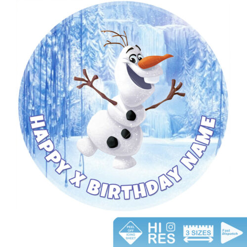 Olaf Frozen Cake Topper Personalised