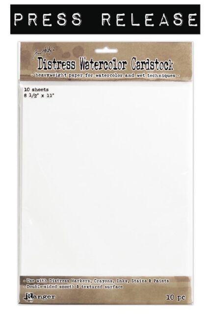 "Tim Holtz Distress Watercolor Cardstock 10/Pkg -8.5""X11"""