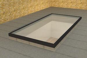 Slim-Grey-Low-Lying-Flat-Aluminium-Roof-Lantern-Glass-Rooflight-Sky-light