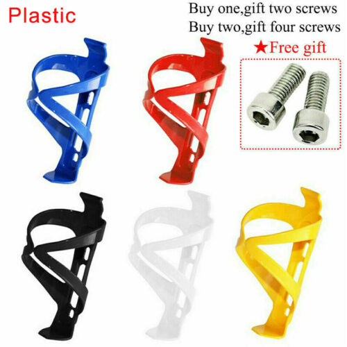 Aluminum Alloy//Plastic Bicycle Water Bottle Cages 5 Color Universal Flask Holder