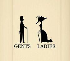 Retro Vintage Toilet Door Ladies Gents VINYL DECAL STICKER GRAPHIC