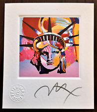 "PETER MAX ""Liberty Head VI"" Original Hand Signed Lithograph w/2001 Studio Seal."