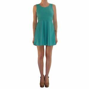 buy popular 7e6a5 840e9 Dettagli su Abito Donna Verde Elegante Cerimonia Vestito Corto Scollato  Vestitino Da Sera Se