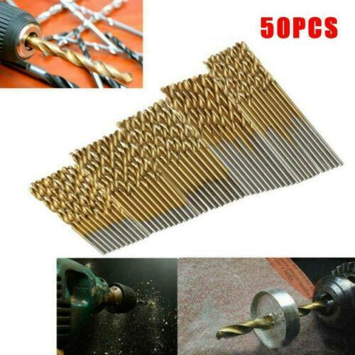 50//25//10Pcs Titanium Coated HSS High Speed Steel Drill Set Bit Tools Z1E6