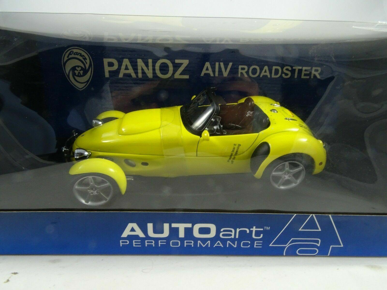 1 18 AUTOart 78213 Panoz AIV Roadster 1998 Gelb - Neu OVP
