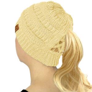 ponytail beanie messy bun hat ponytail hat Messy Bun Beanie Navy Blue and White Cowboys colors