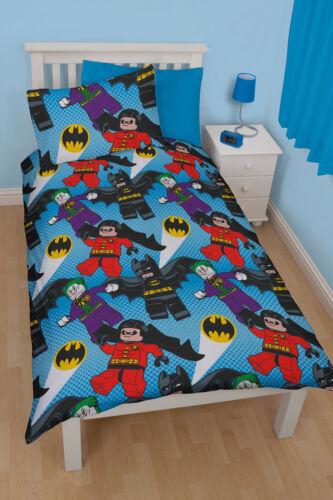 Lego Batman Dynamic Single Duvet Cover Bed Set New Gift Official Joker Robin
