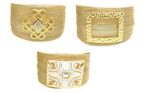 Edelstahlarmband-Armband-Armreif-Geflochten-Damen-Gold-Modern-Zirkonia