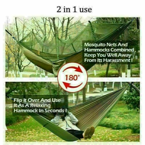 Tent Tarp Rain Fly Cover Waterproof 2 Person Camping Hammock With Mosquito Net
