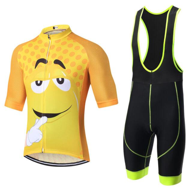 Cycling Jersey Set Men Bike Bicycle Short Sleeve Clothing and Bib Shorts M-3XL
