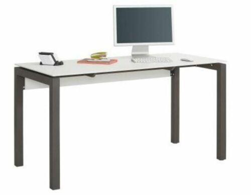 Maja Möbel Schreibtisch 5015-9034 Weiß matt Metallgestell Anthrazit ABVERKAUF