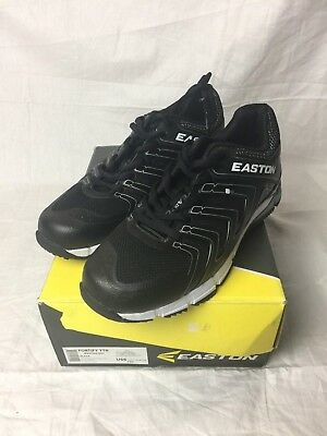 EASTON FORTIFY KIDS YOUTH TURF BLACK BASEBALL SHOES CLEATS US 5.5 BRAND NEW