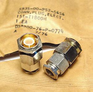 4x Hf Connecteur Pour Câble-montage, Mil Qualité, 151-t1800h, 5935-00-952-5656-56afficher Le Titre D'origine