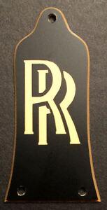 2019 Nouveau Style Gravé Gravé Guitare Truss Rod Cover Fit Epiphone-randy Rhoads Rr Or Noir-afficher Le Titre D'origine Non Repassant