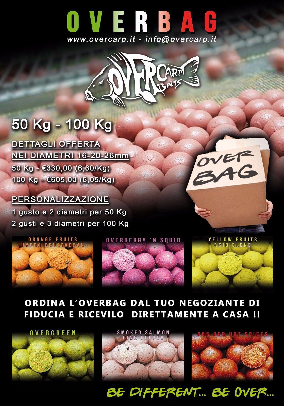 OVER CARP CEBOS BOILIES GRANDE PAQUETE 50-100KG PESCA DE CARPAS BAIT BOILES