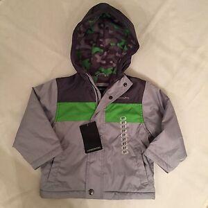 London Fog Toddler Boys Lightweight Jacket - Gray / Green - Size ...
