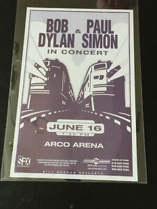 Bob Dylan Paul Simon Konzert Kunstdruck